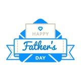 Emblème heureux de salutation de jour de pères Photo stock