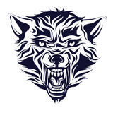 Emblème, logo, tatouage, tête d'un loup Photo stock