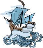 Emblème marin, bateau Photos stock