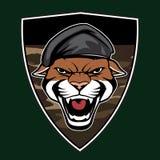 Emblème militaire principal de puma Photos stock