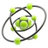 Emblème nano de technologie en tant que structure atomique illustration libre de droits