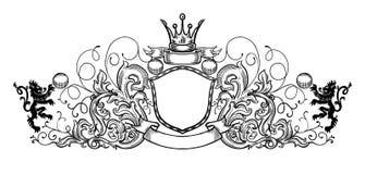 Emblème noir et blanc illustration stock