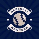 Emblème professionnel moderne pour le tournoi de jeu de baseball Photos stock