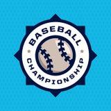 Emblème professionnel moderne pour le tournoi de jeu de baseball Photos libres de droits