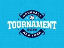 Emblème professionnel moderne pour le tournoi de jeu de baseball Image stock