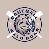 Emblème professionnel moderne pour le tournoi de jeu de baseball Image libre de droits