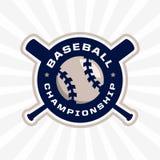 Emblème professionnel moderne pour le tournoi de jeu de baseball Images libres de droits
