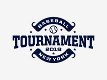 Emblème professionnel moderne pour le tournoi de jeu de baseball Photographie stock libre de droits
