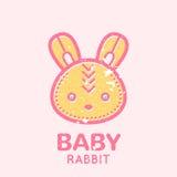Emblème puéril avec le petit lapin mignon illustration libre de droits