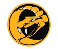 Emblème rond de vipère Photo stock