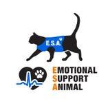 Emblèmes émotifs d'animal de soutien Photographie stock