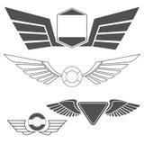 Emblèmes avec des ailes Image libre de droits