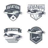 Emblèmes d'avion de vintage Image stock