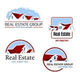 Emblèmes d'immobiliers Photographie stock