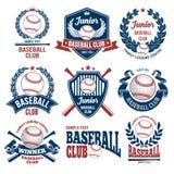 Emblèmes de club de base-ball Photographie stock libre de droits