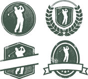 Emblèmes de golf de cru Photo stock