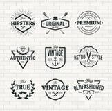 Emblèmes de hippie Photos stock