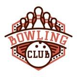 Emblèmes de logo de bowling de vecteur illustration stock