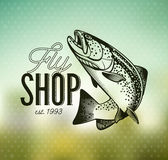 Emblèmes de pêche de truite de vintage Image stock