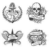 Emblèmes de studio de tatouage de vintage réglés Photographie stock libre de droits