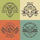 Emblèmes de vecteur de champ de tir dans le style de vintage illustration stock