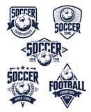 Emblèmes du football de vecteur Photo stock