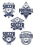 Emblèmes du football de vecteur Images stock