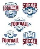 Emblèmes du football de vecteur Images libres de droits