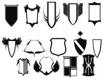 Emblèmes et bouclier de collection de vecteur Photographie stock