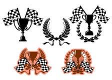 Emblèmes et symboles de sports Photographie stock