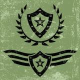 Emblèmes militaires de grunge de style Image libre de droits