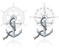 Emblèmes nautiques Images libres de droits
