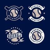 Emblèmes professionnels modernes réglés pour le tournoi de jeu de baseball Photo libre de droits