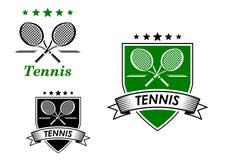 Emblèmes sportifs de tennis Image libre de droits