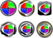 Embleem in de vorm van een ellips Stock Afbeelding