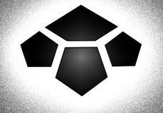 Embleem in de vorm van tegels Stock Afbeeldingen
