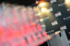 Embleem en achtergrond van Audi Fashion Festival 2011 Stock Afbeeldingen
