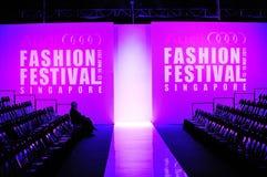 Embleem en toeschouwersgalerij van Audi Fashion Festival 2011 Royalty-vrije Stock Fotografie