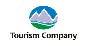 Embleem - het Bedrijf van het Toerisme/van de Reis Royalty-vrije Stock Afbeeldingen