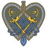 Embleem in In Keltische stijl Stock Foto