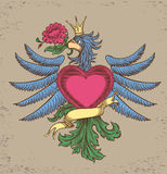 Embleem met een adelaar Stock Afbeeldingen