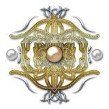 Embleem op metaalachtergrond Royalty-vrije Stock Afbeelding