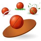 Embleem van basketbal Royalty-vrije Stock Afbeelding