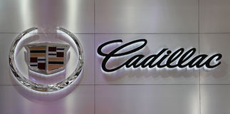 Embleem van Cadillac in AutoChina 2010