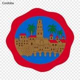 Embleem van Cordoba Stad van Spanje stock illustratie