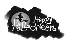 Embleem van creatieve kalligrafie voor Halloween royalty-vrije illustratie