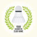 Embleem van de badminton het vectorclub stock illustratie