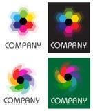 Embleem van de bedrijf het Samenvatting Gestileerde Bloem Stock Afbeeldingen