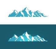 Embleem van de Bergen van Alpen vector illustratie