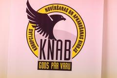 Embleem van de Corruptie Preventie en het Bestrijden van Dienst KNAB stock foto